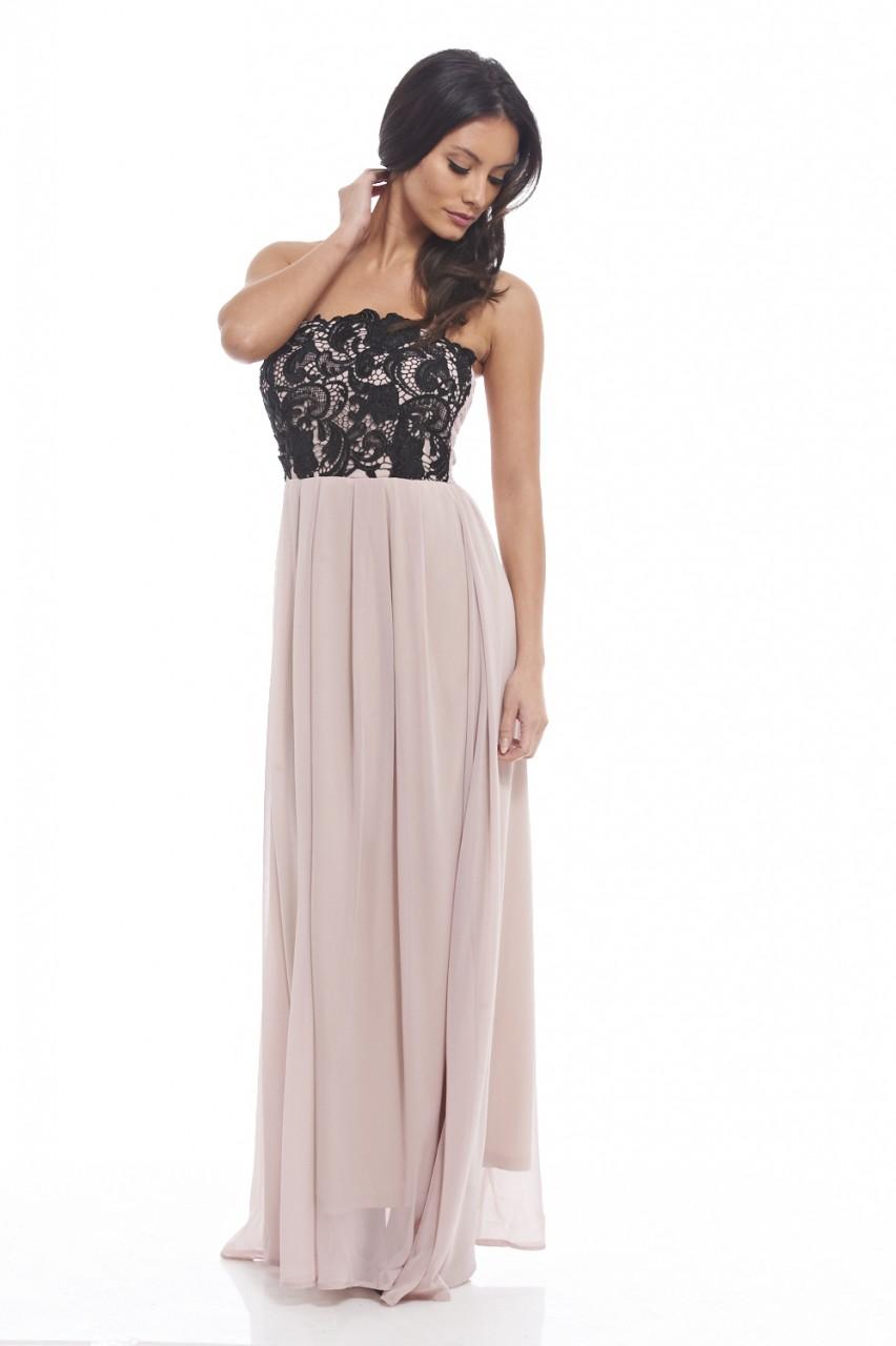 bd9bd25b7d8 αέρινο maxi φόρεμα top δαντέλα