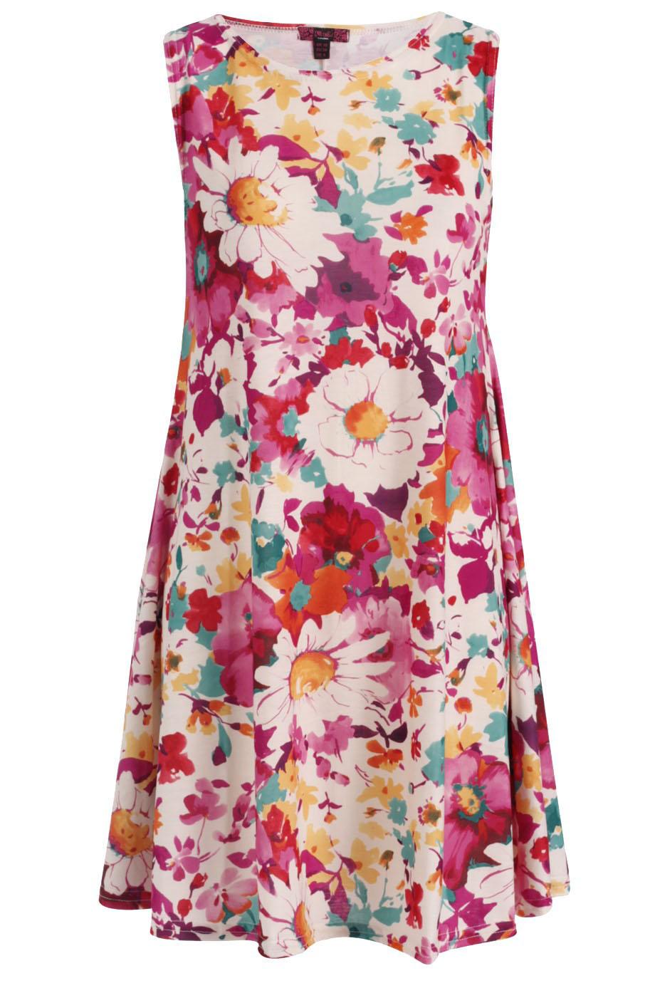 8873c86320f7 happy floral swing φόρεμα τουνίκ