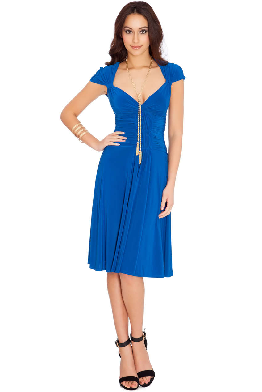 132614da2704 so chic φόρεμα midi σε royal μπλε