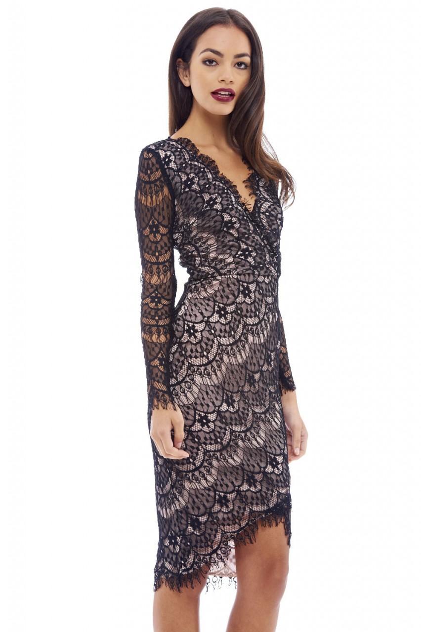 κρουαζέ fine φόρεμα δαντέλα 5efd8371705