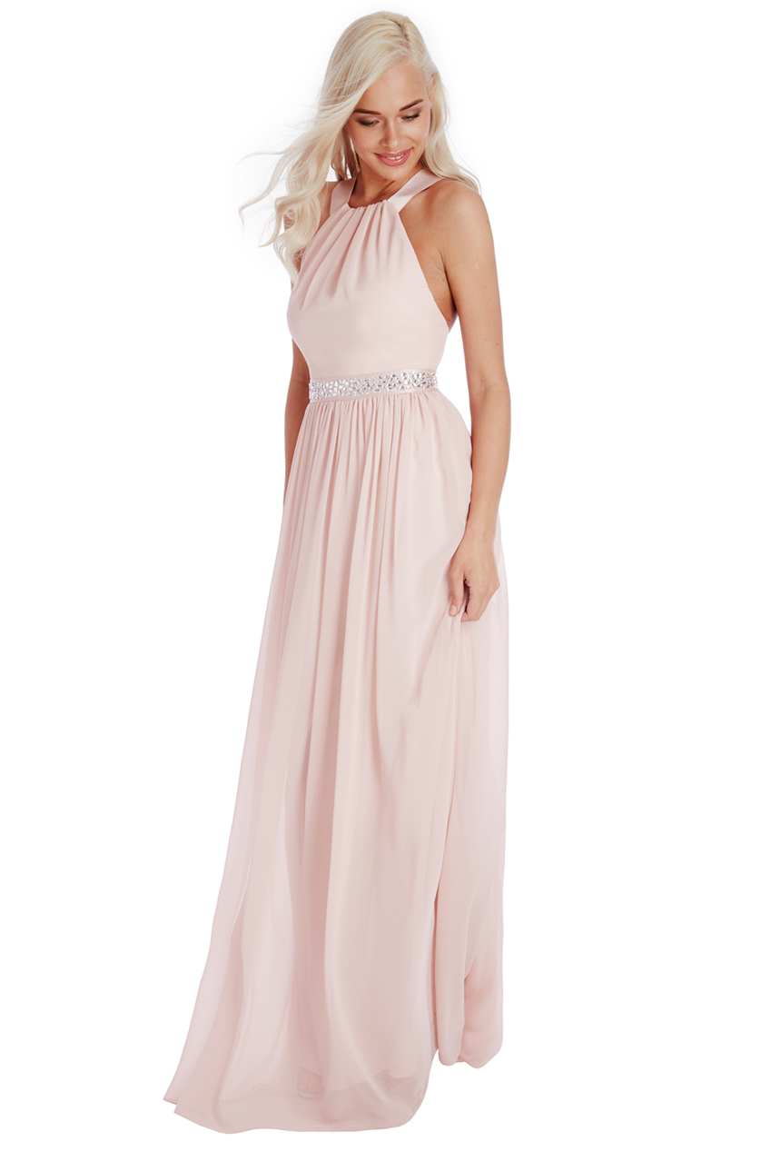 αέρινο fairytale maxi φόρεμα σε ροζ poudre ce7a659f7e8
