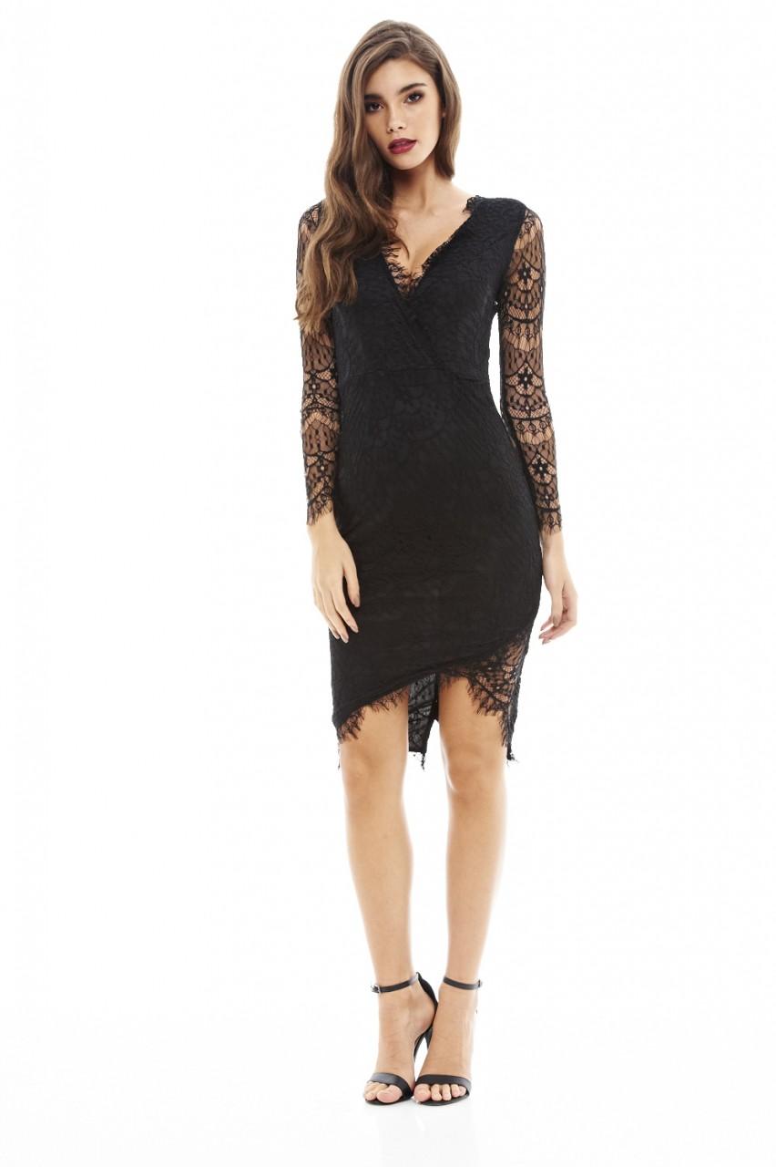 κρουαζέ fine φόρεμα δαντέλα σε μαύρο 9344f7b0d8f