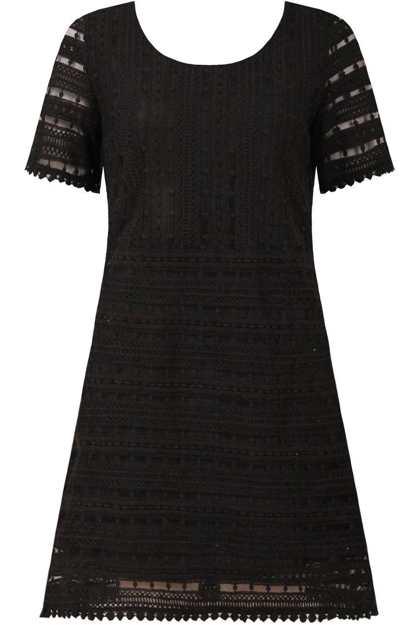 85dced43aad4 stylish μαύρο boho φόρεμα κροσέ δαντέλα