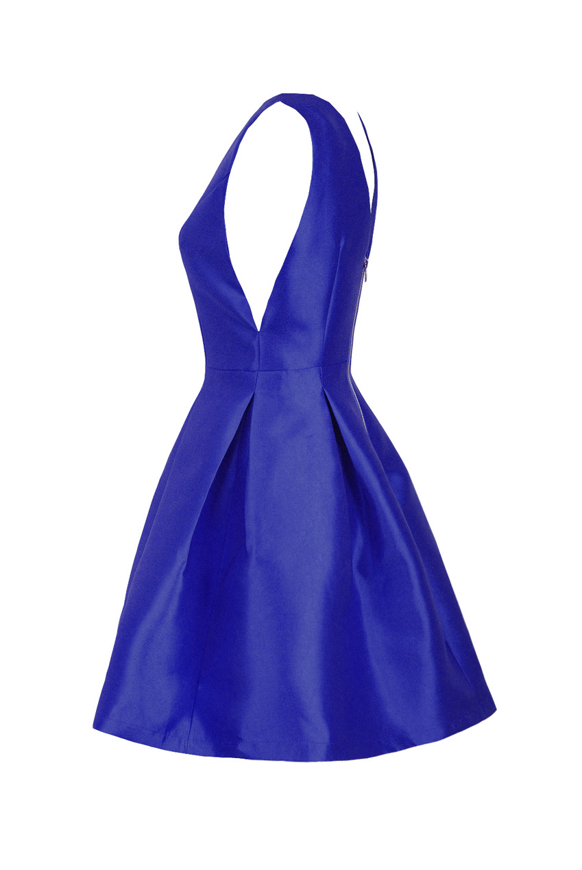 139f6055e214 vintage royal blue princess φόρεμα organza