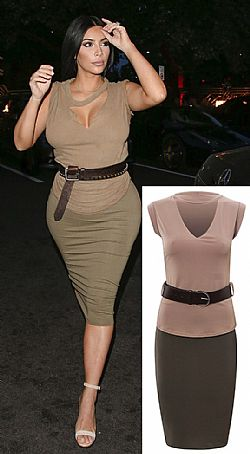 total look twinset streetstyle της Kim Kardashian