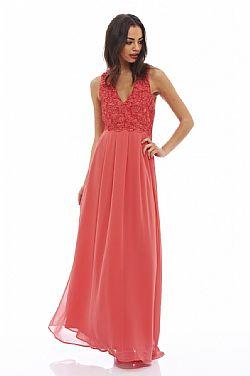 romantic maxi αέρινο φόρεμα σε κοραλί 0c75a03341a