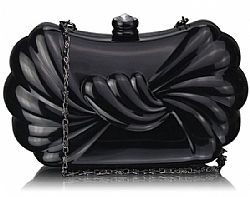 black liquid extravagant clutch