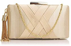 sophisticated golden chain clutch σε χρυσό