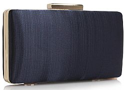sophisticated golden chain clutch σε μπλε navy