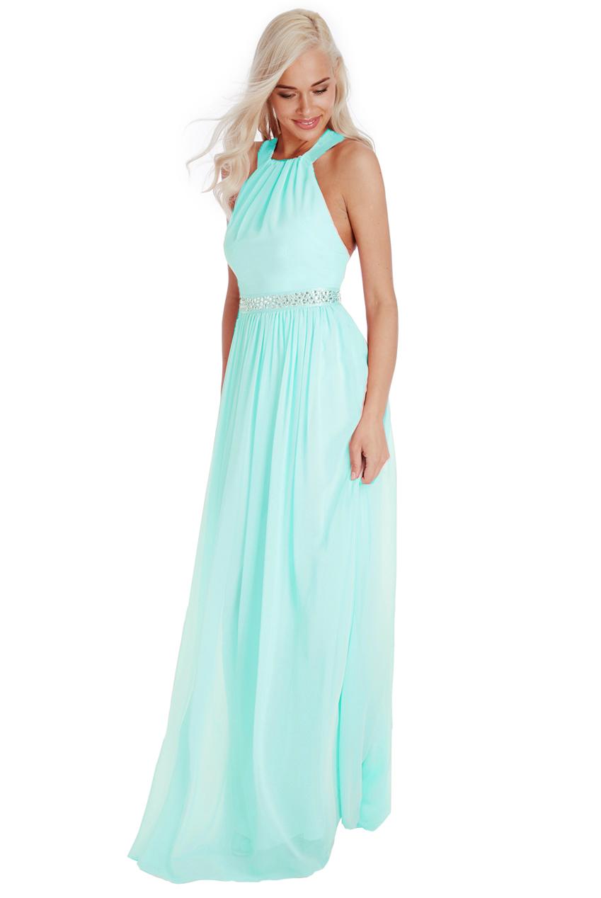 αέρινο fairytale maxi φόρεμα σε aqua 4b38d8316dd