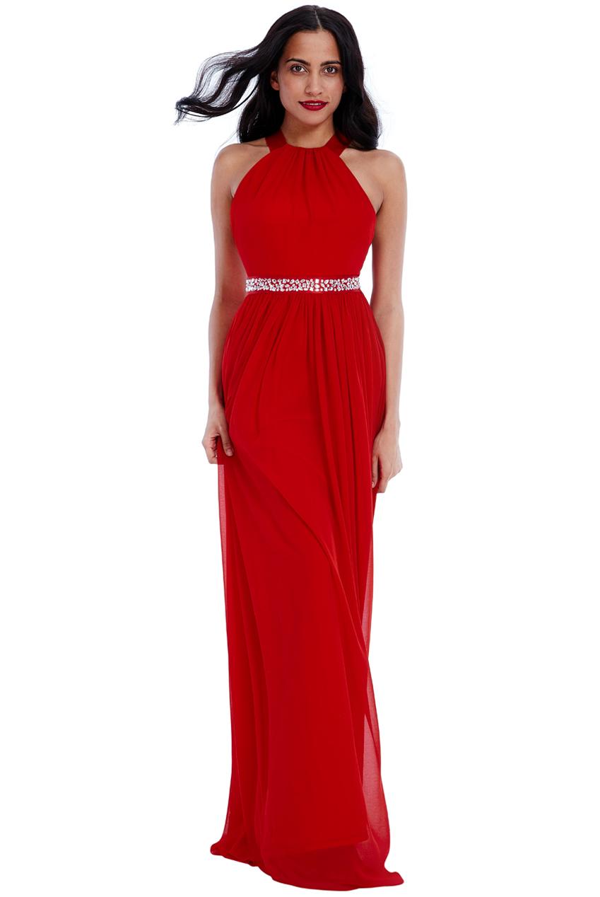 αέρινο fairytale maxi φόρεμα σε κόκκινο 37b15839470