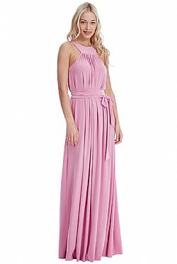 relaxed cool maxi φόρεμα σε dusk pink