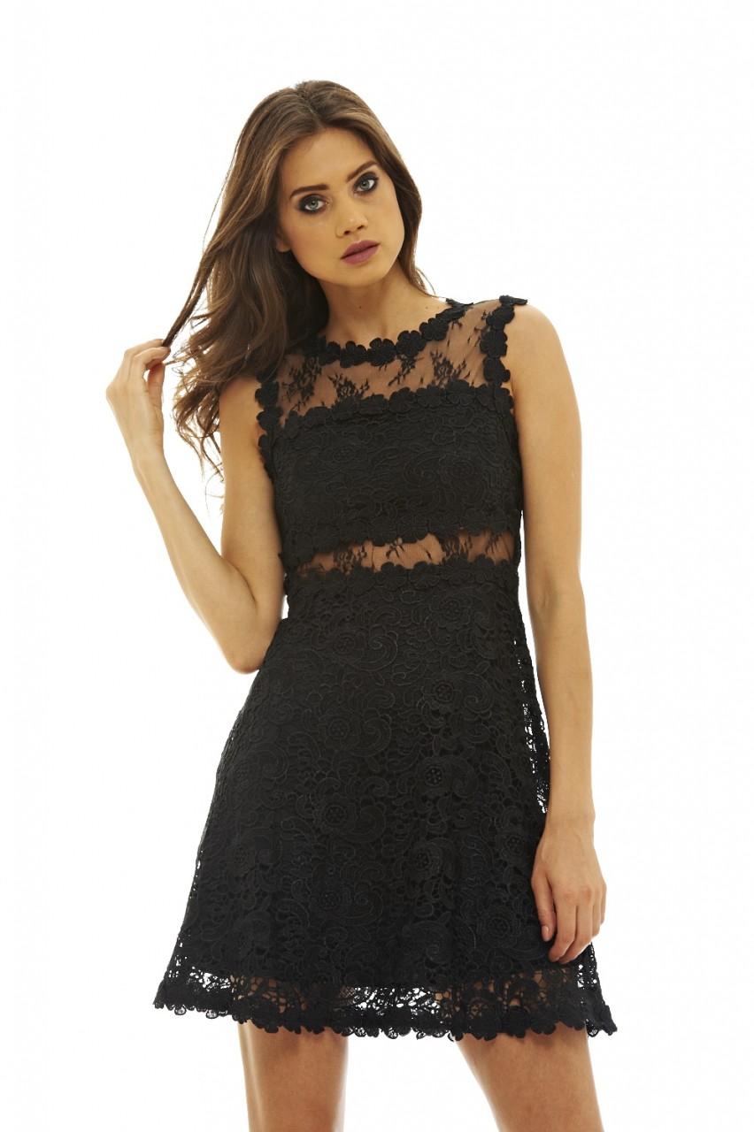 09baad28a97b 60s ultimate mini lbd φόρεμα κροσέ δαντέλα