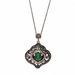 vintage baroque κολιέ emerald treasure