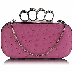 rock on luxurius clutch σε hot pink