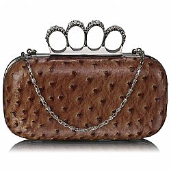 rock on luxurius clutch σε glossy brown