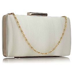 luxe in simplicity satin clutch σε εκρού