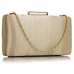 luxe in simplicity satin clutch σε χρυσό