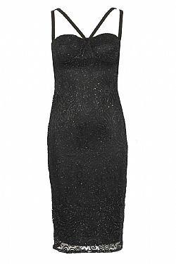 sexy βραδινό lbd glittery δαντέλα