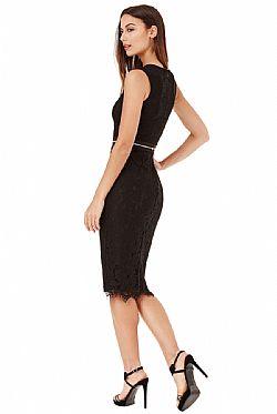 unique elegance φόρεμα δαντέλα σε μαύρο ... 7263d910190
