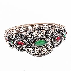 vintage baroque βραχιόλι emerald ruby copper