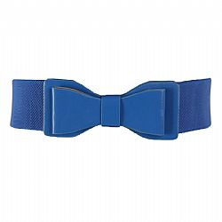 vintage ζώνη elastic leatherette ribbon σε royal blue