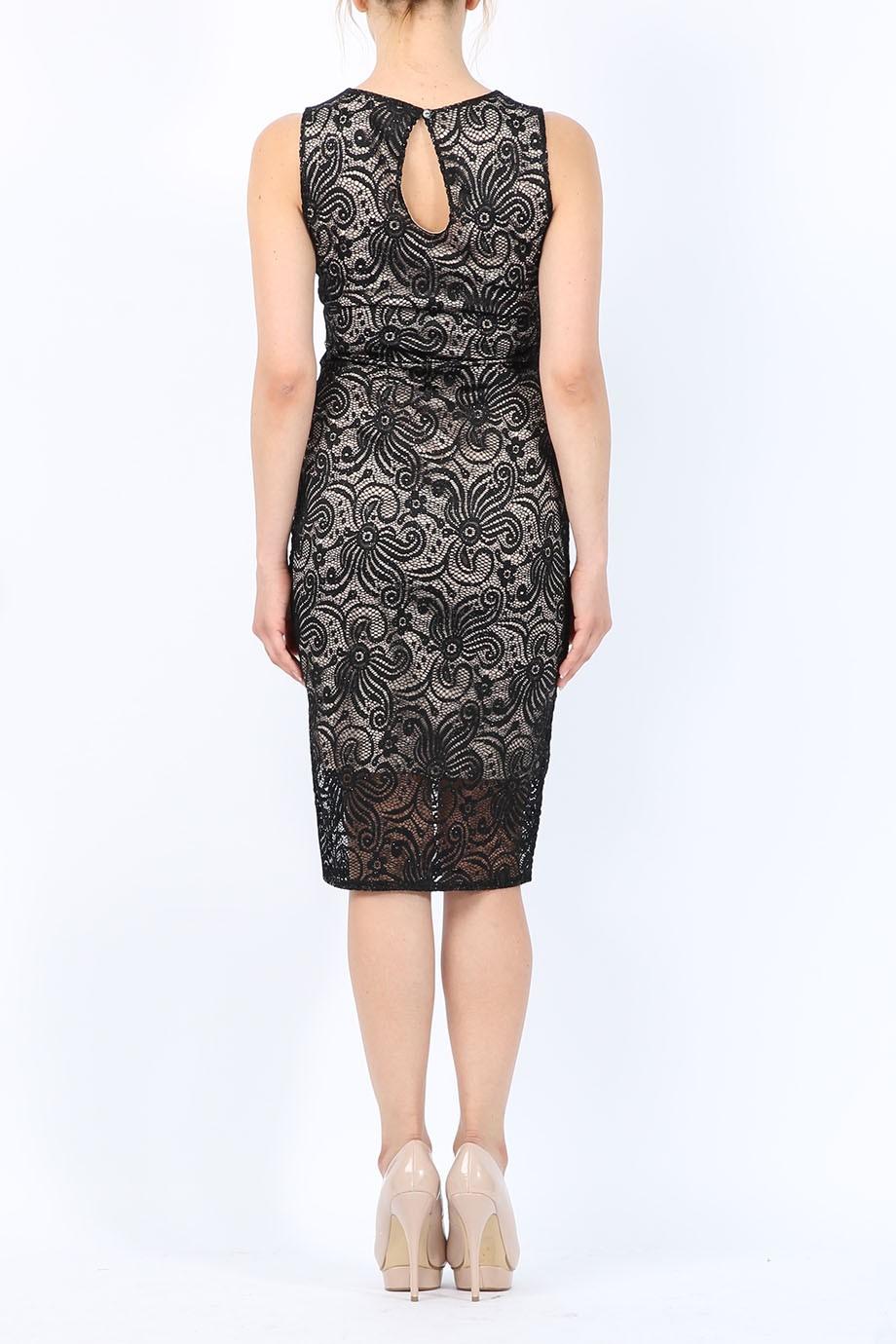 chic glitter V φόρεμα δαντέλα 0b458d13b2e