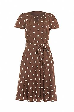 vintage styled φόρεμα choco Pretty Woman