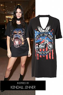 it choker T-shirt Kendall style