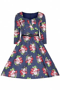 vintage φόρεμα 50s country chic floral Barbara