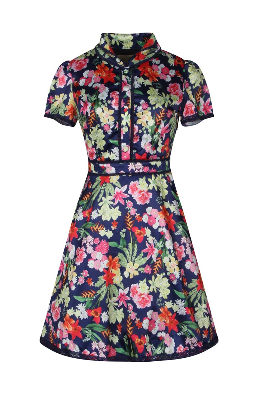 vintage japanese floral tailored φόρεμα Carrie