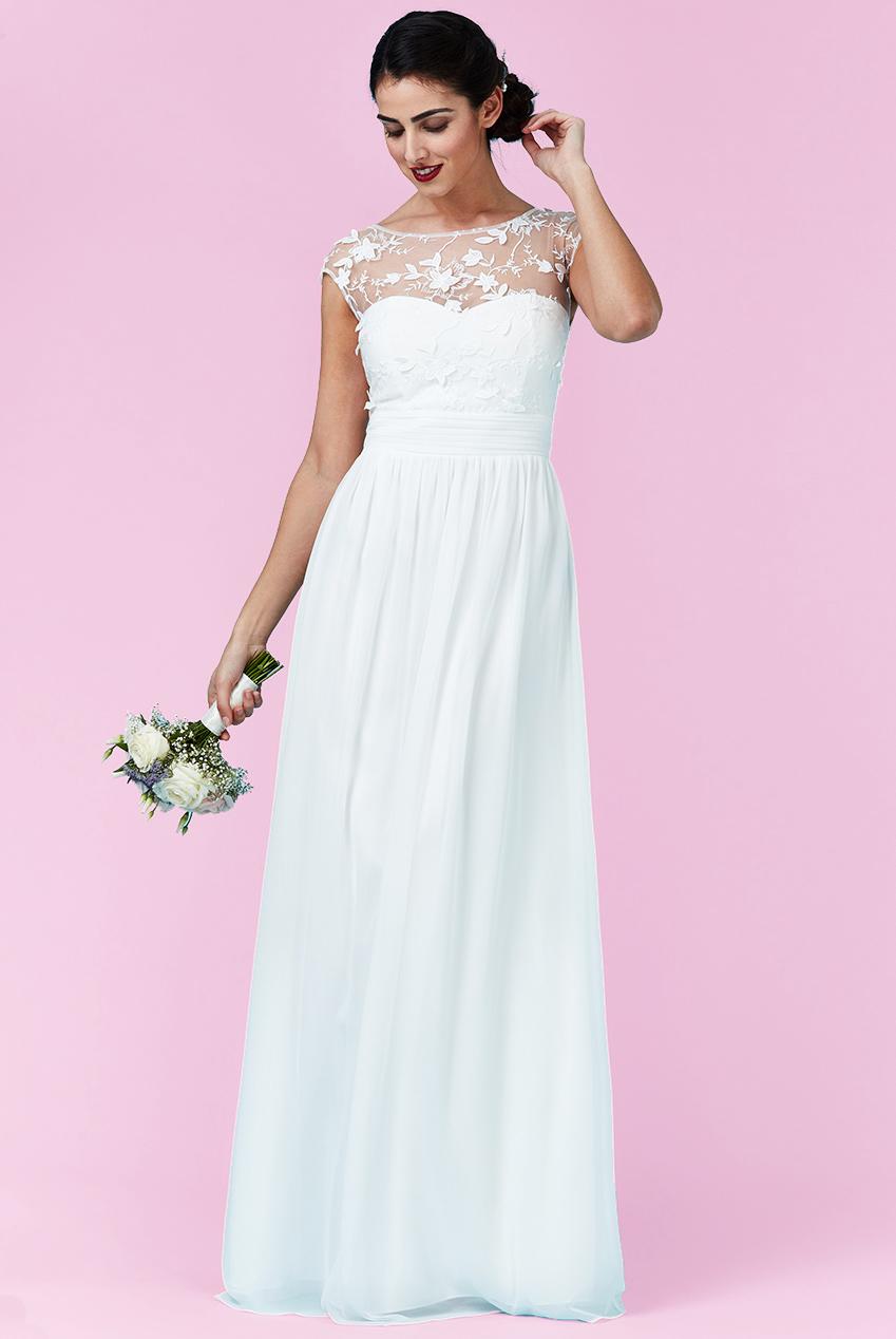 αέρινο bridal empire φόρεμα top δαντέλα 3d floral 7a7ae108e4c