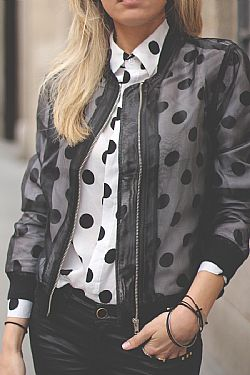 blogger bomber jacket τούλι