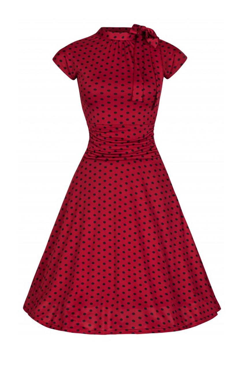 vintage 40s φόρεμα Dottie Bow wine