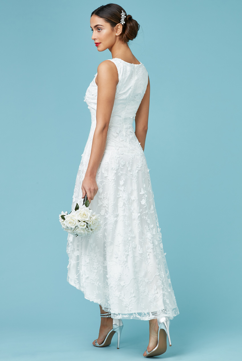 romantic bridal φόρεμα high low 3d δαντέλα 7572d388ea5