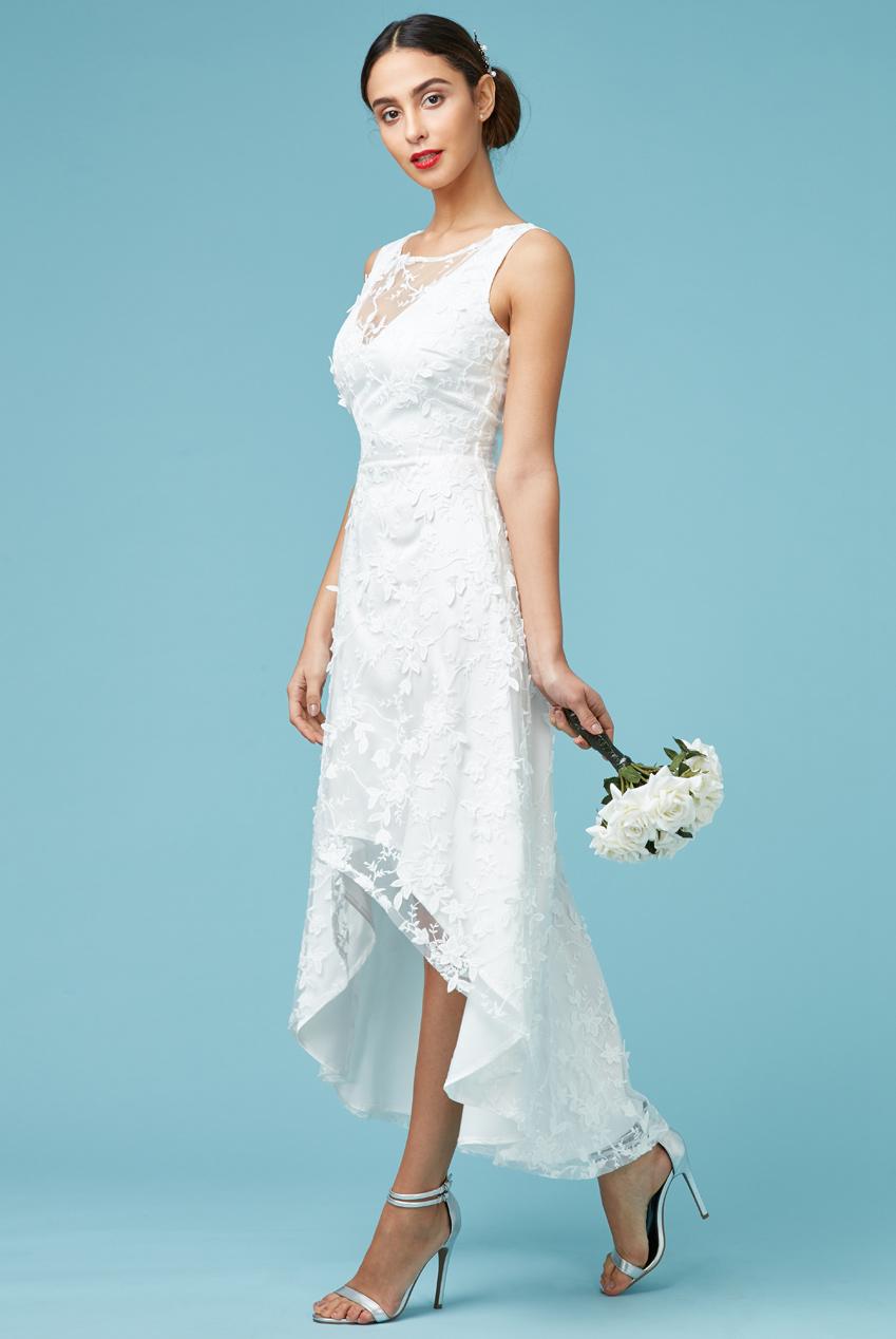 4f02e222b97b romantic bridal φόρεμα high low 3d δαντέλα