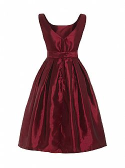royal wine taffeta vintage φόρεμα