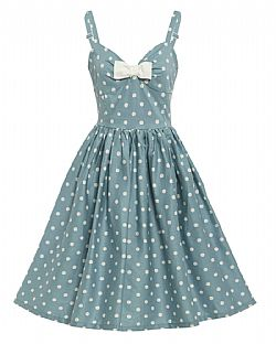 vintage styled sweet pin up Sonia duck egg blue