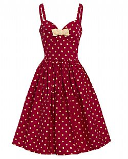 vintage styled sweet pin up Sonia raspberry