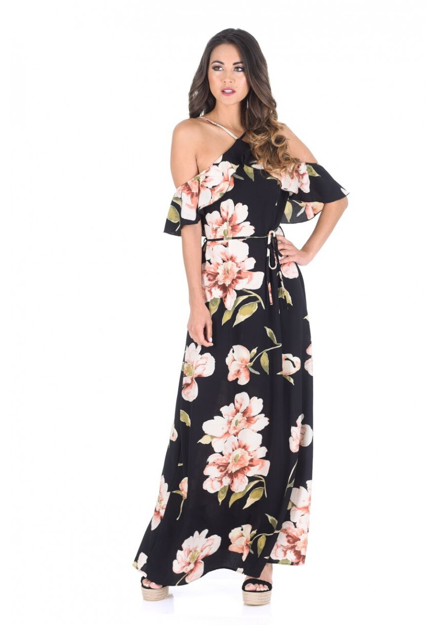 celeb day to night maxi φόρεμα nature floral 1f8ac025ea4