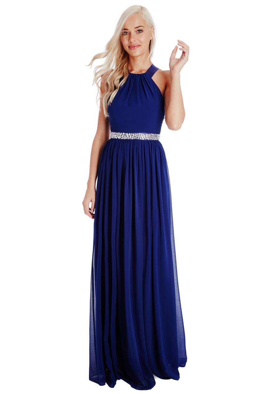 82b39ed70754 αέρινο fairytale maxi φόρεμα σε royal μπλε