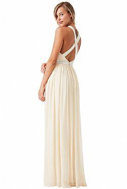 αέρινο fairytale maxi φόρεμα σε champagne ... 68eb6061854