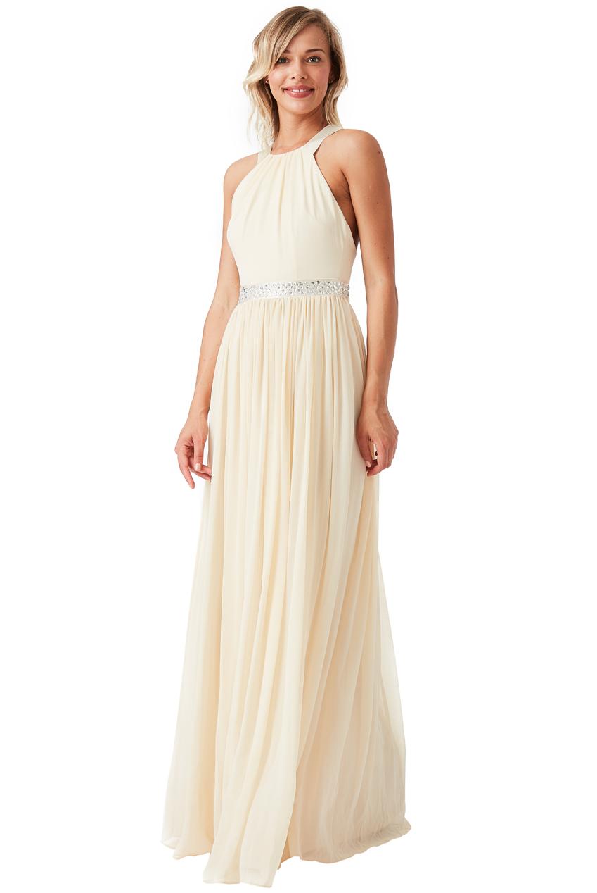 3a6b9334f13 αέρινο fairytale maxi φόρεμα σε champagne