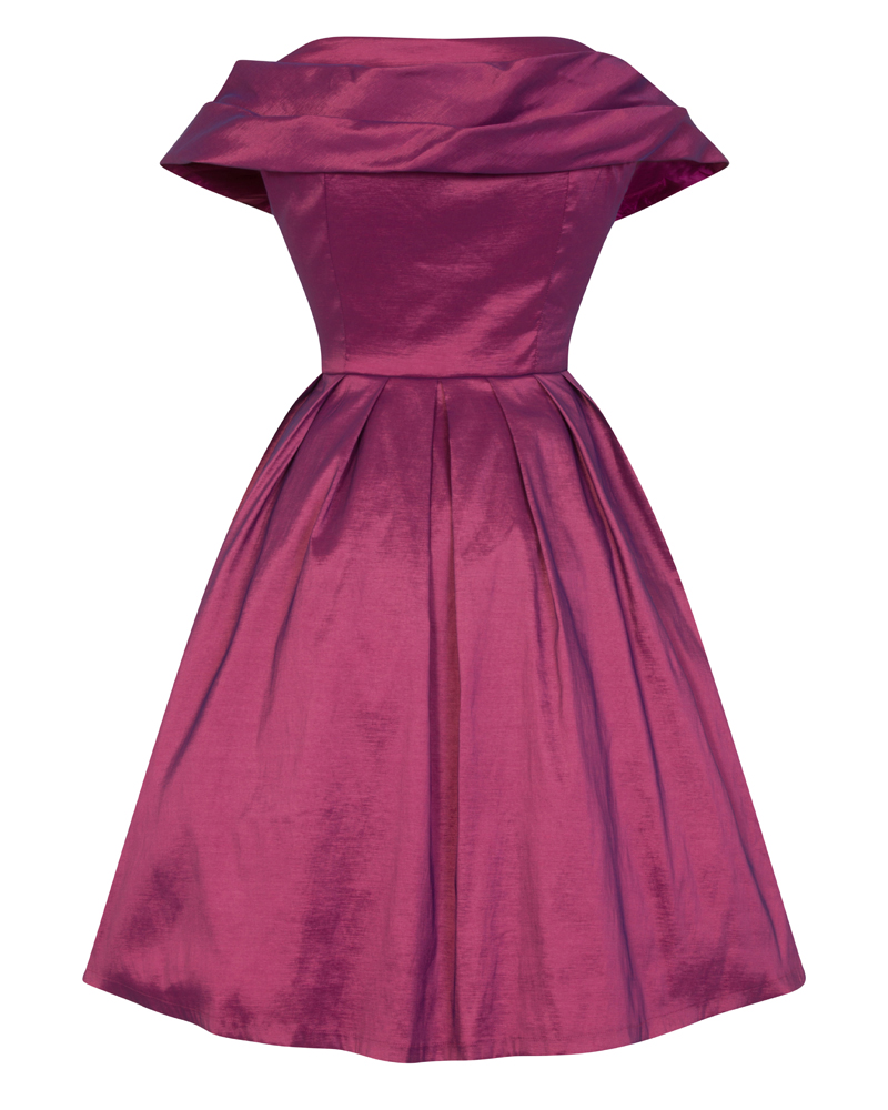 86f1ce8f0b8c vintage φόρεμα chic taffeta dusky plum 50s