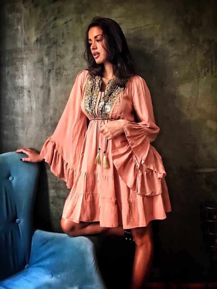 boho chic φόρεμα 70s ethnic luxe peach 56891bce88f