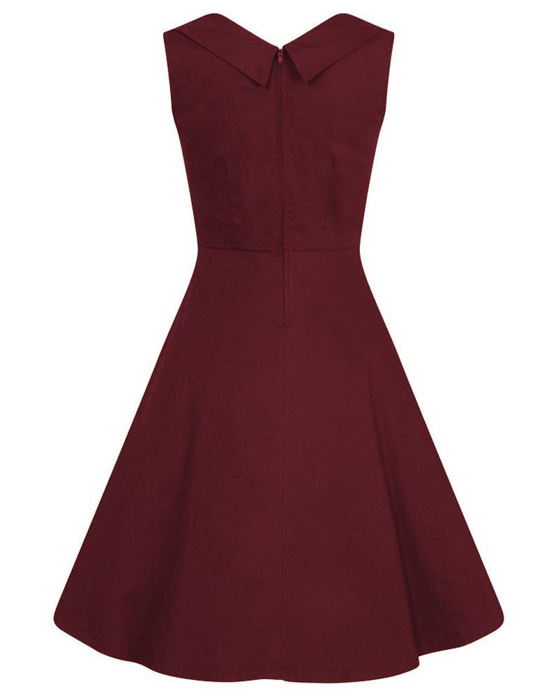 vintage wine μπορντώ φόρεμα Αva cotton 0b565aa441d