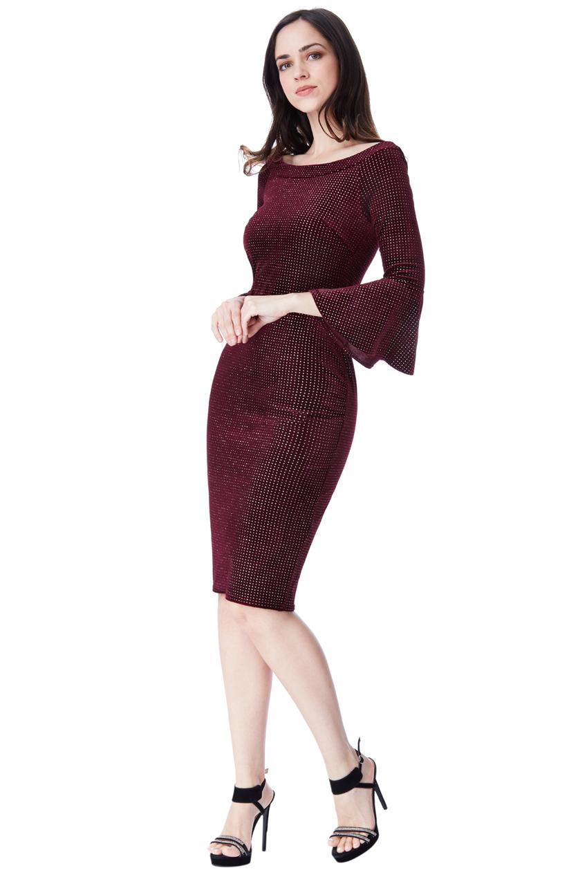 8f6a68d1eaa5 night out velvet chic midi φόρεμα