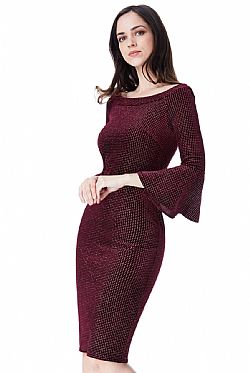 night out velvet chic midi φόρεμα