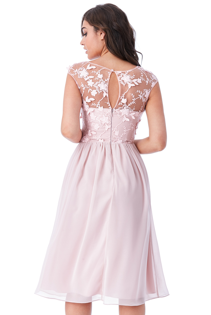 47e9935890e4 αέρινο blush ροζ φόρεμα δαντέλα 3d floral