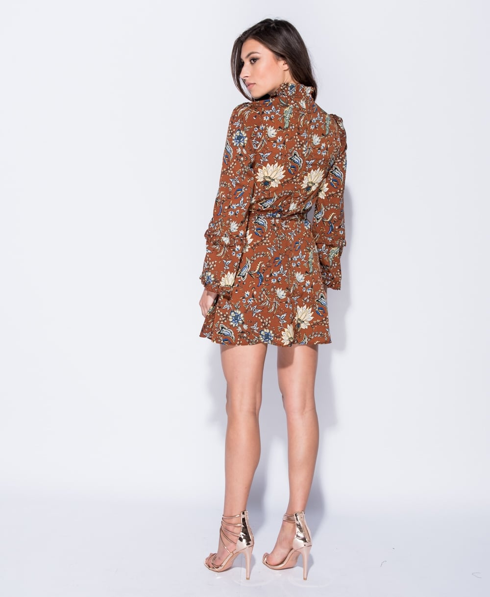 boho 70s floral mini φόρεμα τουνίκ Cora 7f47031bb08